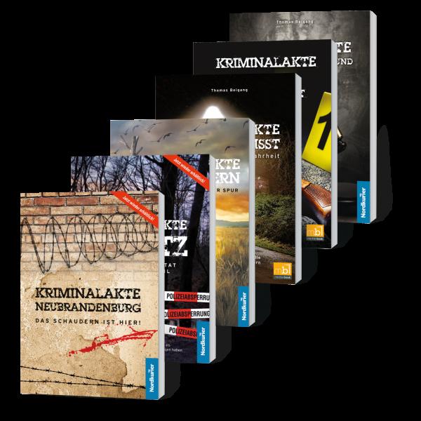 """Buchset """"Kriminalakte"""": Alle 6 Bände zum Vorteilspreis!*"""