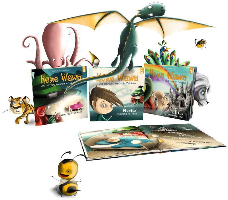 Drei Abenteuer der Hexe Wawu sind bereits als Bücher erschienen.