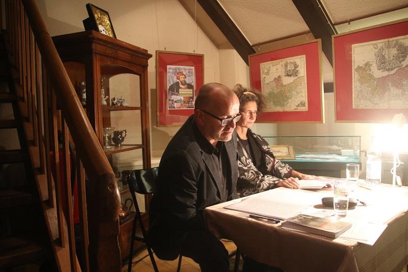 Birgit Langkabel und Frank Wilhelm 2019 bei einer Lesung in Anklam