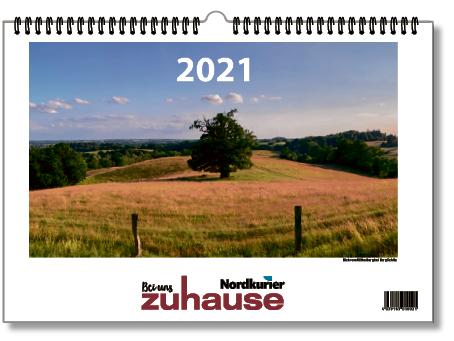 """Wandkalender 2021 """"Bei uns zuhause"""""""